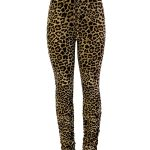 YP1932 Poly Span Stacked Pants - LEOPARD - leopard